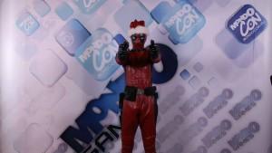 Sárközi Gyula József, első jelmezében, mint Deadpool