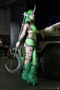 Miharu Dryad Soraka cosplayében a PlayIT-en