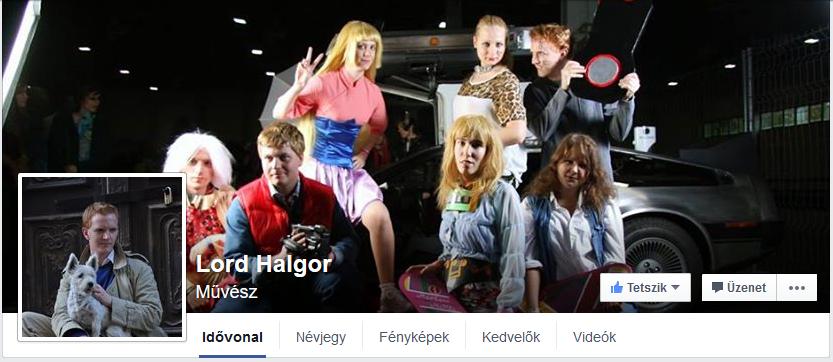 Lord Halgor facebook oldala