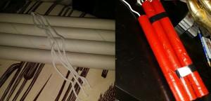 Catleen dinamitjaihoz ezeket a tökéletesen passzoló papírhengereket használta